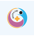 People and positive logo vector image vector image