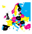 political map of europe continent in cmyk colors vector image vector image