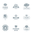 power logo set simple style vector image
