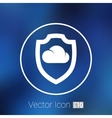 protection of cloud storage icon internet vector image vector image
