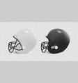 realistic classic american football helmet set vector image
