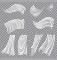 realistic fluttering cloths transparent background vector image vector image