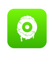 scary eyeball icon digital green vector image vector image
