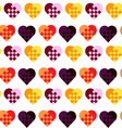 Seamless geometric pattern with heartsfancy heart vector image vector image