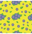 Seamless pattern Blue flowers vector image vector image