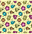 seamless pattern with jewels vector image vector image