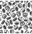 seamless victorian royal crowns pattern background vector image vector image