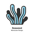 seaweed monocolor vector image