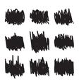 Set hand drawn figures felt-tip pen scrawl vector image vector image