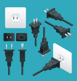 set od plugs and sockets type a used in north and vector image