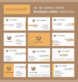 set of 12 coconut creative busienss card template vector image vector image