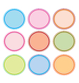 Set of Circle Frames for Design vector image vector image