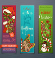set of colourful Christmas banners vector image vector image