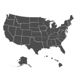 Set of US states vector image vector image