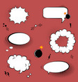 set with comic speech bubbles stars bombs and vector image vector image