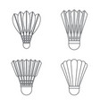 shuttlecock equipment icon set outline style vector image vector image