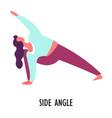 side angle pose yoga asana or position sport or vector image