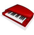 small red piano vector image