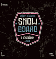 Snowboard badge vector image vector image