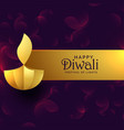 stylish golden diwali diya creative design vector image vector image