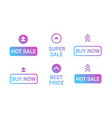 swipe up set buttons big sale advertisement vector image
