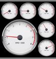 tachometer set different rotation levels vector image