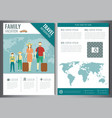 travel brochure design template travel and vector image vector image