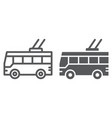 trolleybus line and glyph icon transport and vector image vector image