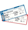 vetor pattern of a boarding pass ticket vector image vector image