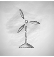 wind turbines icon vector image