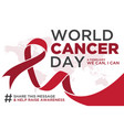 world cancer day design vector image