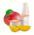 yogurt flavors vector image vector image
