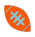 american football ball sign vector image