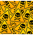 Deadly Warning Sign vector image
