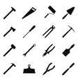 set of construction tools vector image