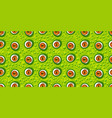 abstract green monster eye seamless pattern vector image