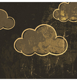 grunge clouds background vector image