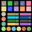 A check mark icon sign Set from twenty seven vector image