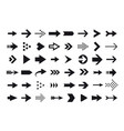 arrow icons arrow cursor isolated on white vector image