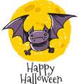 Bat Moon logo vector image vector image