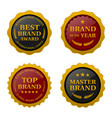 brand award labels set images vector image vector image