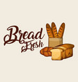 bread fresh baguette sliced toasts banner vector image vector image
