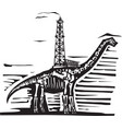 brontosaurus oil well drill vector image vector image