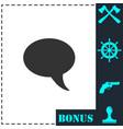 bubble icon flat vector image