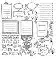 bullet journal hand drawn elements vector image vector image