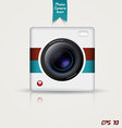 camera app icon vector image vector image