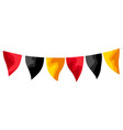 carnival garland flags vector image