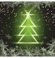 Christmas fir tree on green background vector image vector image