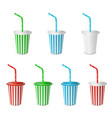 collections plastic fastfood cup for beverages vector image vector image