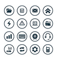 computer icons universal set vector image vector image
